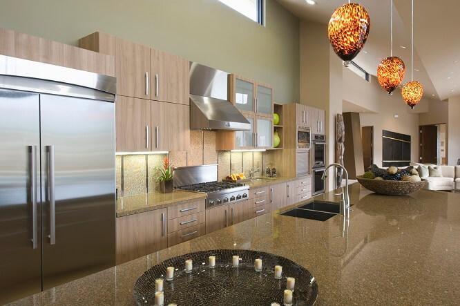 maison avec cuisine luxe marron