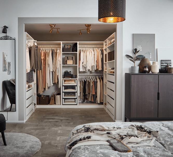 dressing ouvert sur chambre