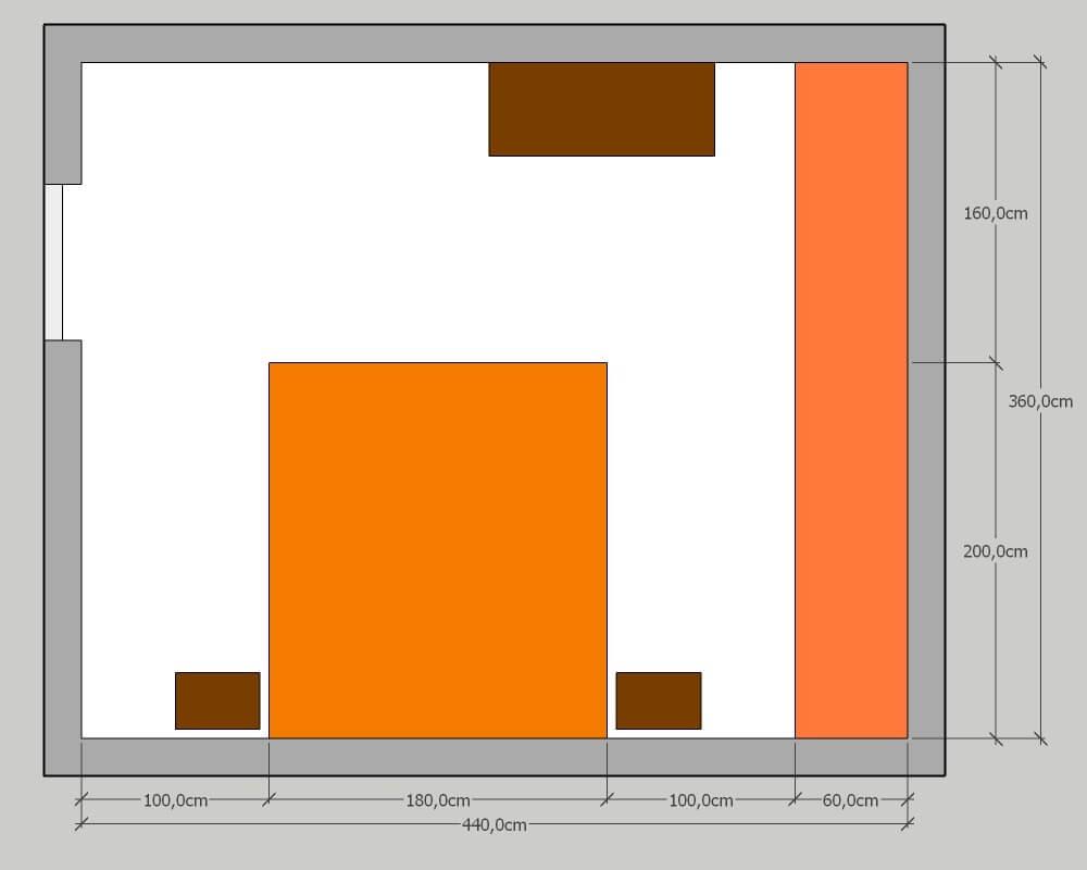 Largeur Minimum Couloir Maison quelle dimension minimale pour une chambre ? et plans d