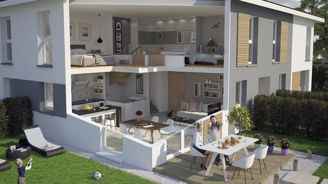 Maison en duplex Carré de l'Habitat