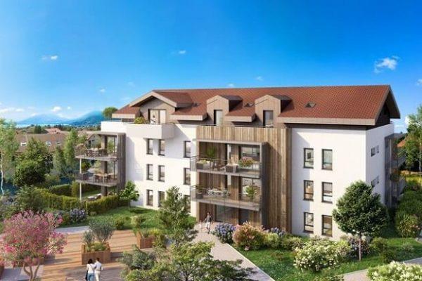 Résidence avec terrasses et balcons