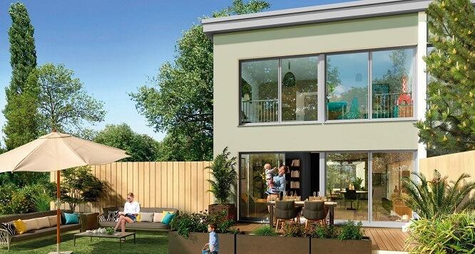 maison neuve Bordeaux avec jardin